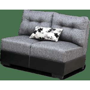 Sillón Love seat Gray-gris complemento sala por piezas